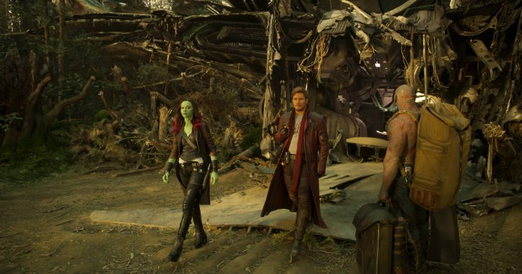 Gamora, Star-Lord and Drax