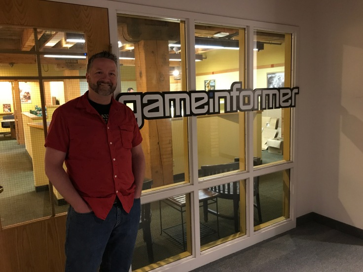 Tom Awesome in front of the Game Informer office