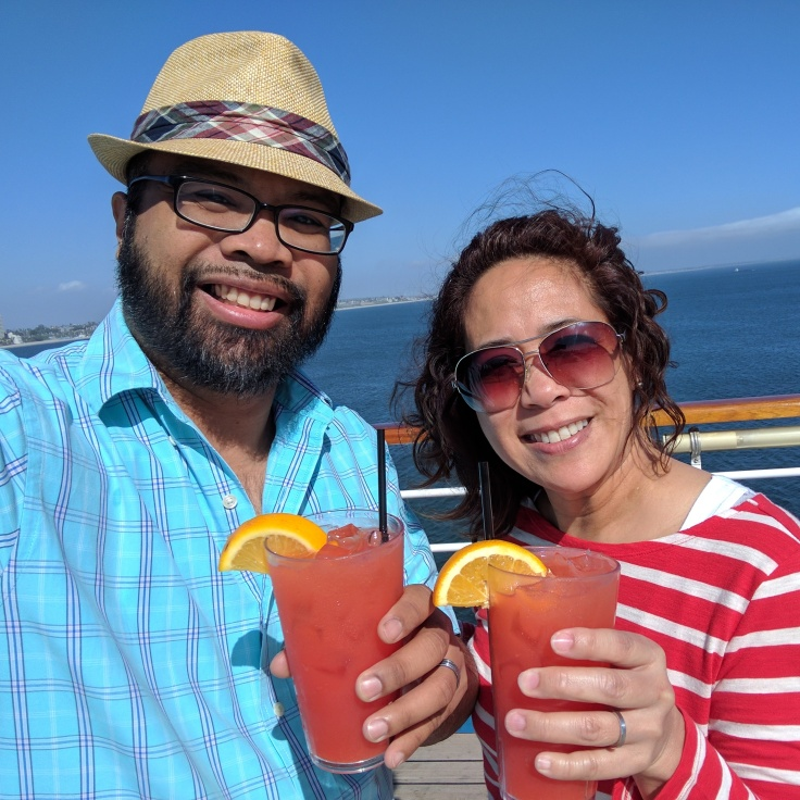 Wife and I on cruise to Mexico