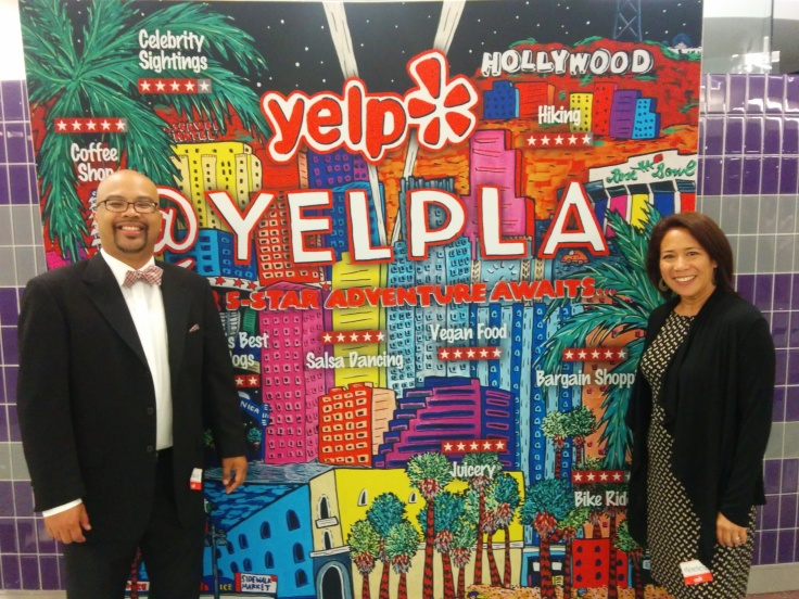 Wife and I represent Yelp LA