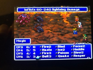 Battle screen FF1