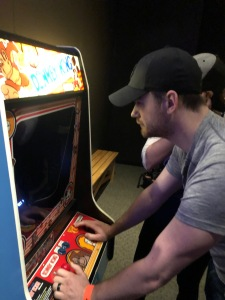 Brian is good at Donkey Kong.