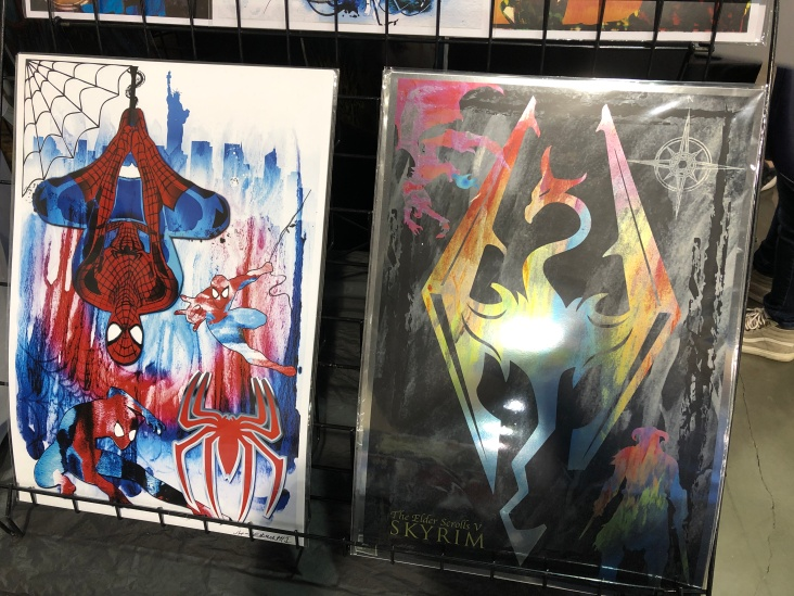 Among items in the vendor hall were a number of very cool art prints.