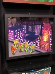 This scene from the TMNT arcade game was part of an awesome series of gaming shadowboxes.