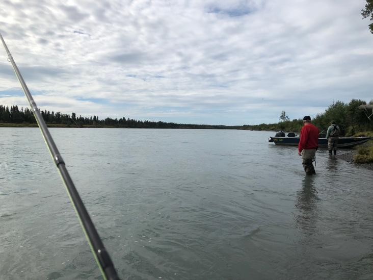 Red fishing in the Kenai river