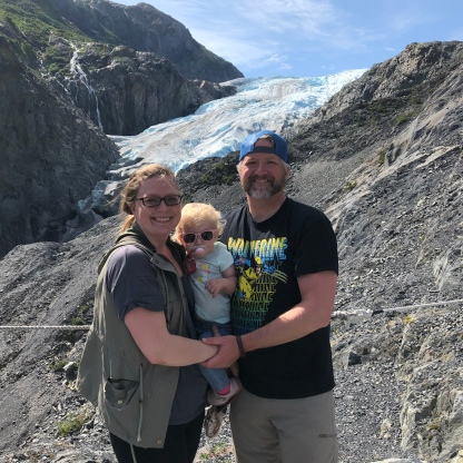 Awesome family at the Exit Glacier