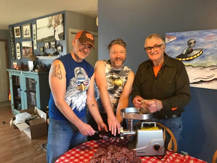 Three Sedlacek dudes and one pile of raw meat. #Merica.